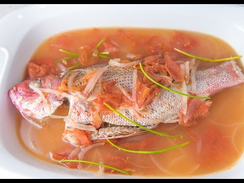 Kinamatisang Isda (Red Snapper With Tomato)