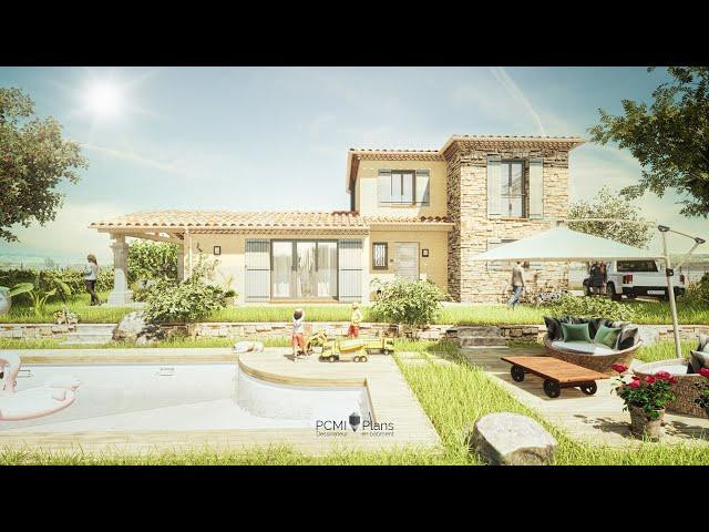 Maison traditionnelle de 120m² | PCMI Plans