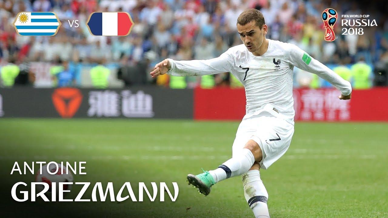 antoine griezmann goal  u2013 uruguay v france  u2013 match 57