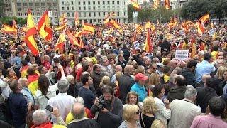 Manifestación con motivo del 12O en Barcelona