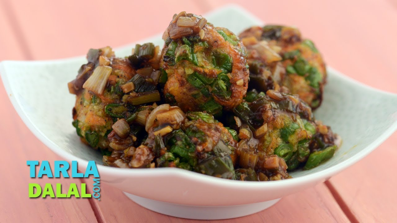 Vegetable balls in hot garlic sauce by tarla dalal youtube forumfinder Images