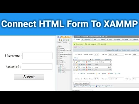 How To Connect Html Form To Mysql Database ( XAMMP )