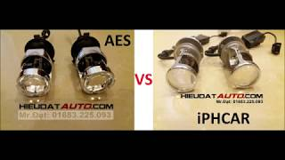 So sánh Bi-LED mini AES và iPHCAR Video