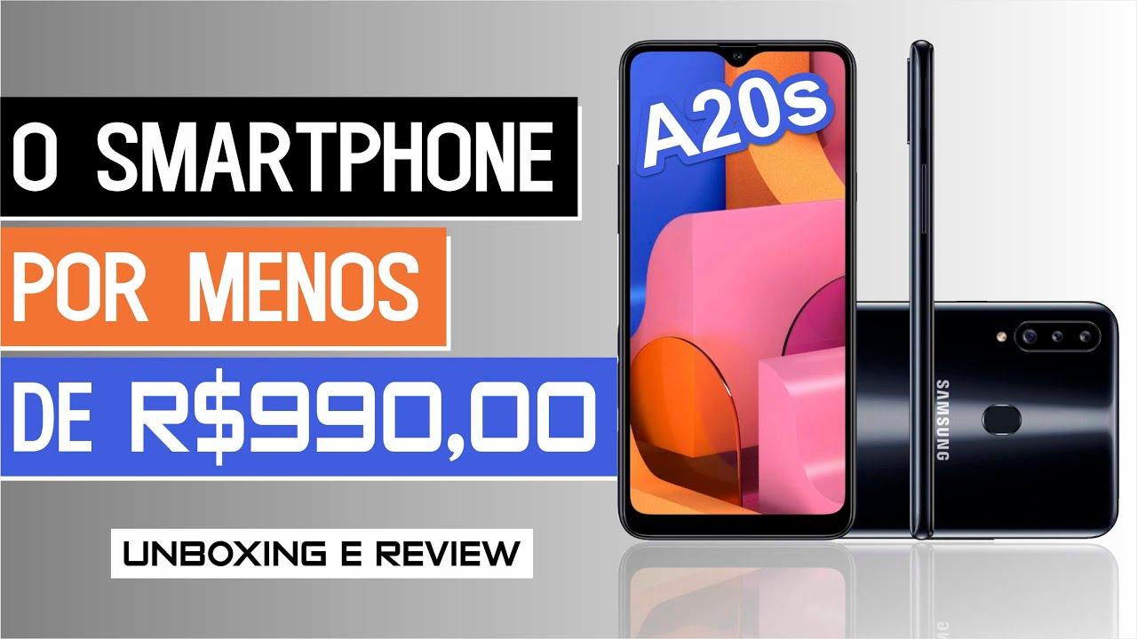 Samsung Galaxy A20s o Smartphone por menos de R$999,90 Unboxing e Review