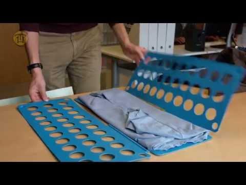 Review opvouwplank - de shirt folder van Sheldon!