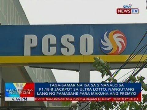 Taga-Samar na isa sa 2 nanalo sa Ultra Lotto, nangutang lang ng pamasahe para makuha ang premyo