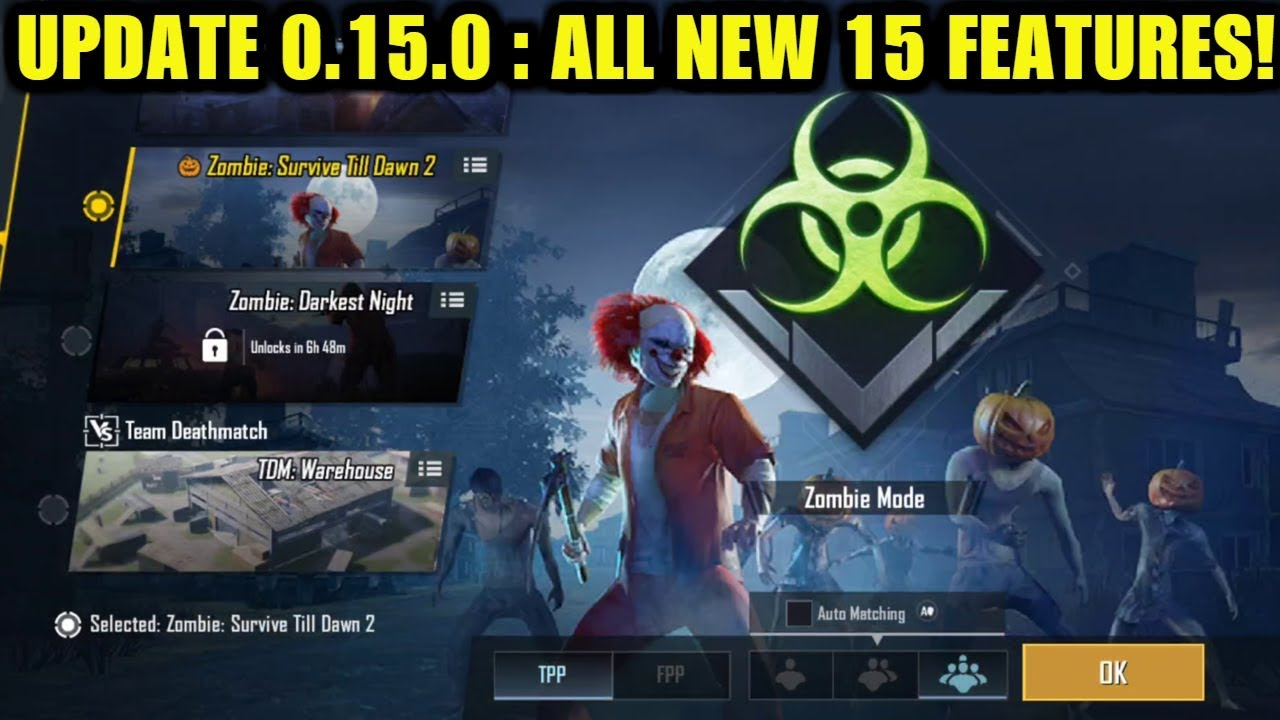 PUBG MOBILE NEW UPDATE 0.15.0 : All New 15 Features - Helicopter - BRDM - Payload Mode - Halloween