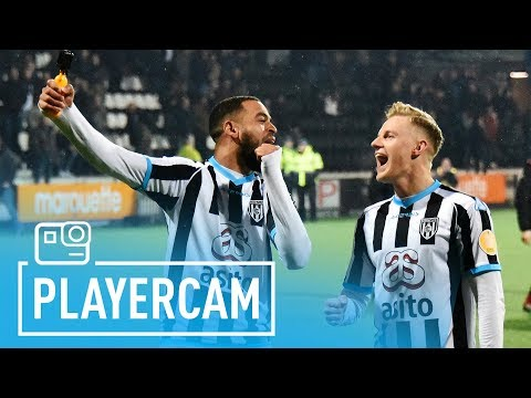 Unieke beelden Brandley Kuwas na derbywinst | Heracles Almelo - FC Twente 2-1