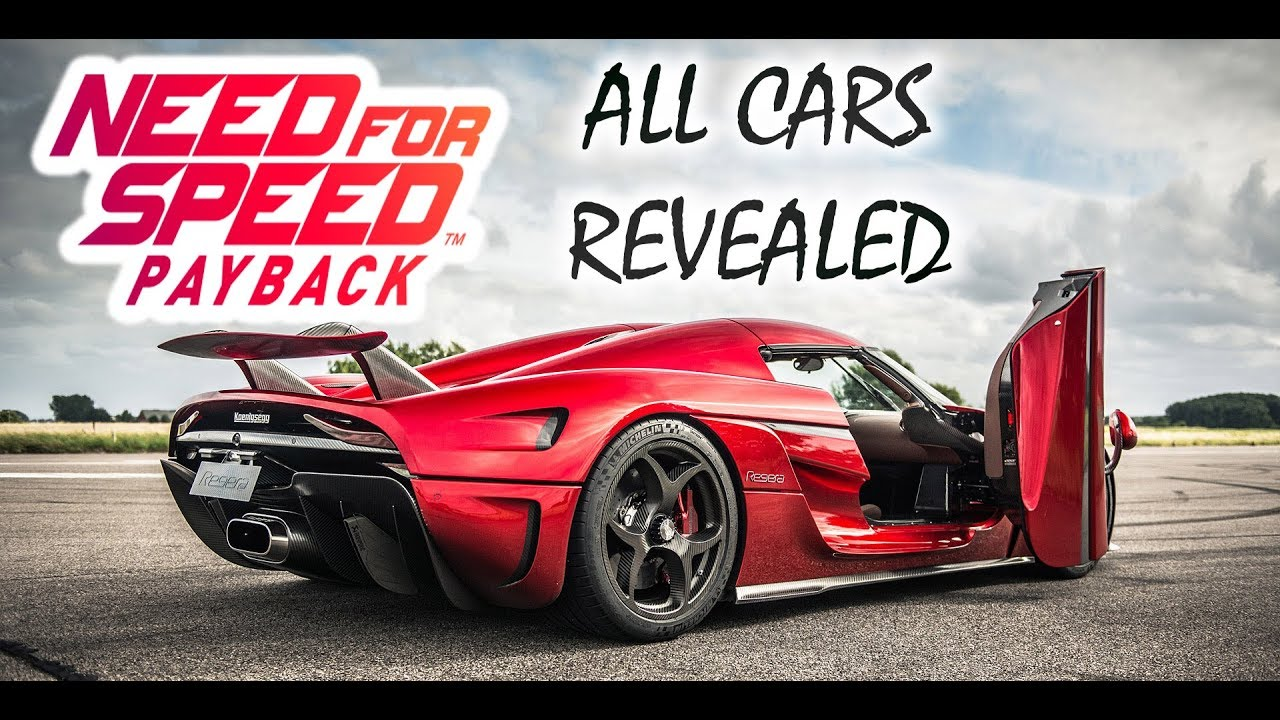 need for speed payback car list all revealed cars so far 2017 youtube. Black Bedroom Furniture Sets. Home Design Ideas