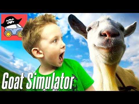 🐐 Устроили ПОГРОМ в игре СИМУЛЯТОР КОЗЛА Смешное видео Прохождение игры Goat Simulator Жестянка