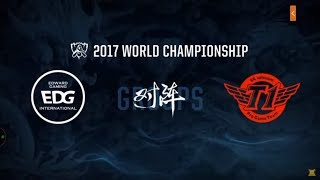 #12 Worlds 2017 / Day 2 /  EDG vs SKT / League of Legends worlds championship!