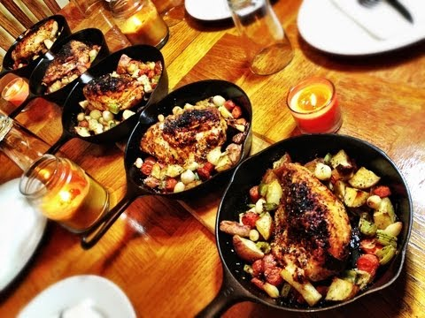 Cast Iron Roasted Chicken & Vegetables