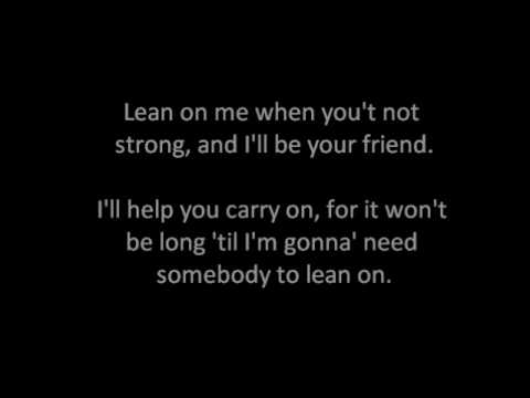 Lean on me Karaoke