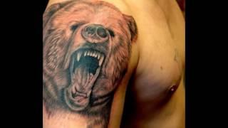 Тату медведь — значение и фото