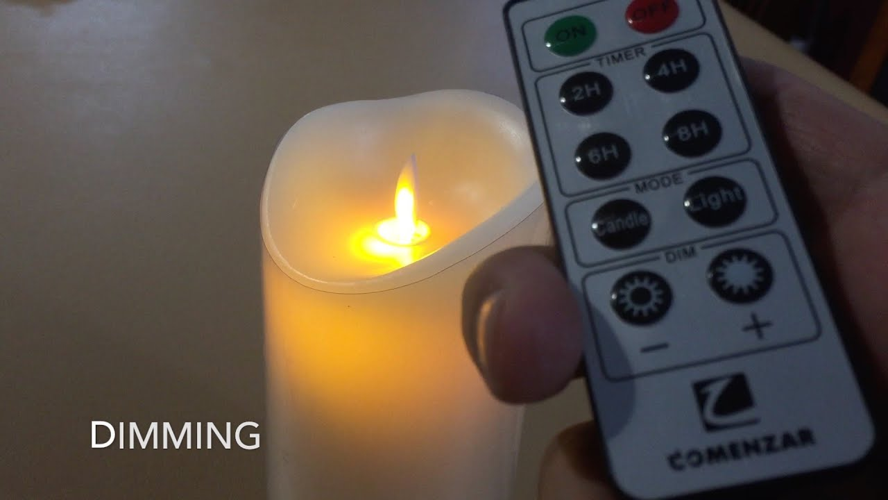 Comenzar 7 Flickering Flameless Candles With Remote Timer Battery
