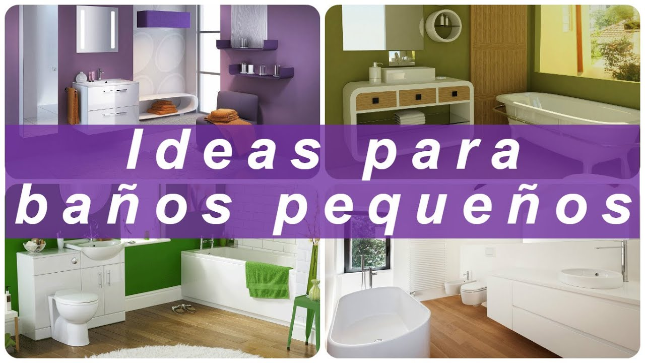 Ideas para ba os peque os youtube Ideas para decorar banos muy pequenos