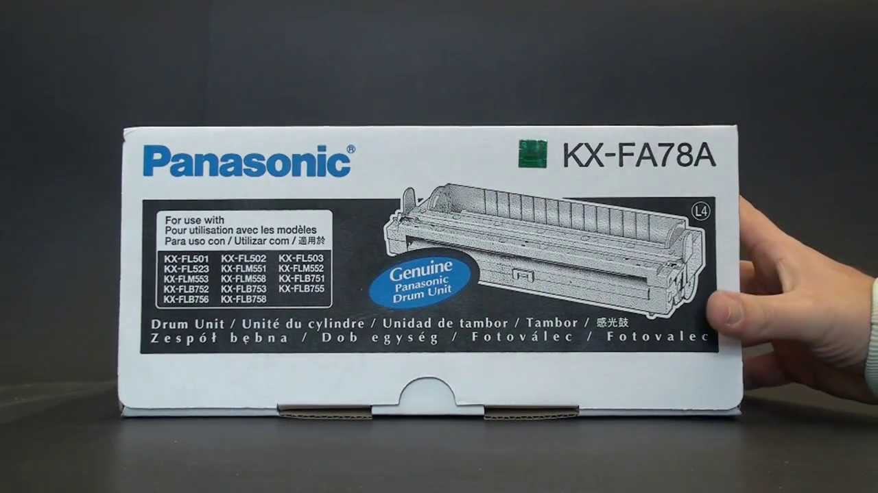 Panasonic Drum Unit KX-FA78A - YouTube