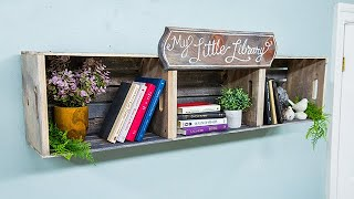 DIY Crate Bookshelf - Home & Family
