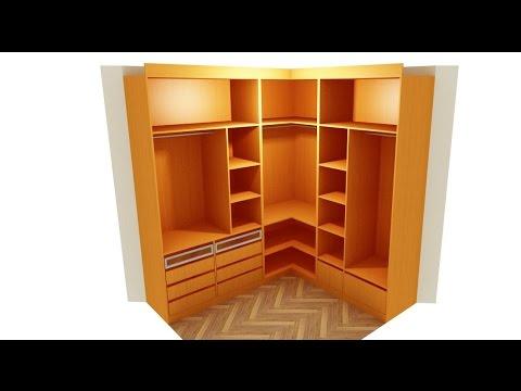 como hacer un armario en L resumen  YouTube