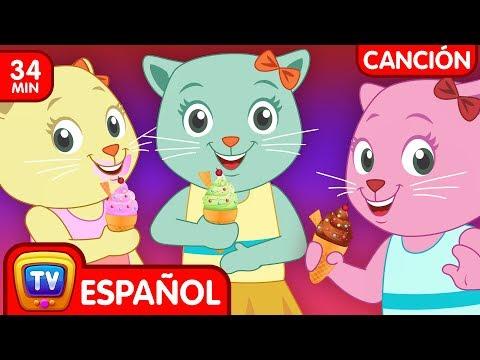 Tres Gatitos Salieron A Comer (Colección)   Canciones Infantiles Populares de ChuChu TV