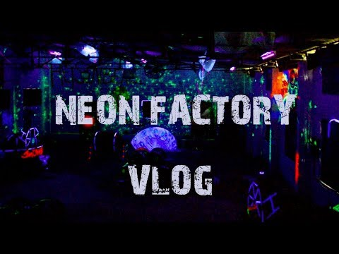 neon factory paint ball fight | vlog