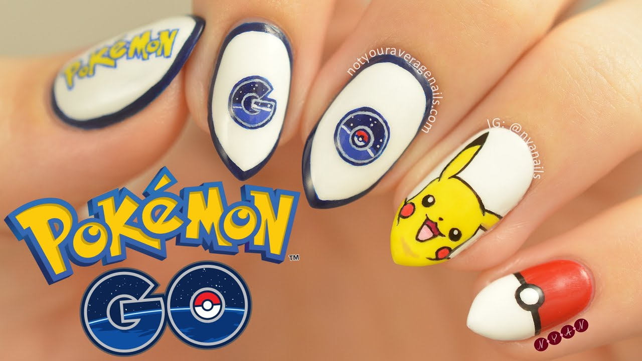 Pokémon Go Nail Art Tutorial - YouTube