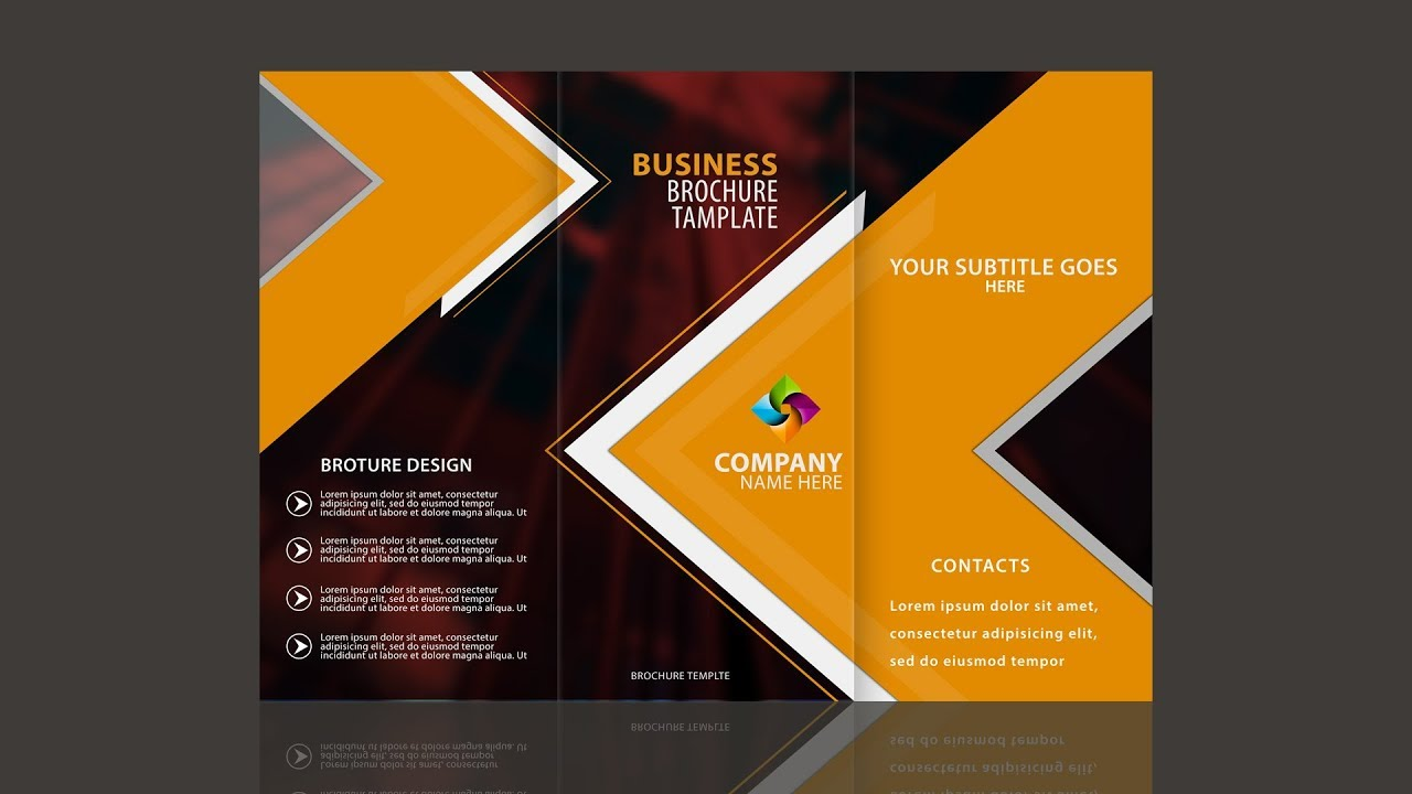 Tri fold brochure design in photoshop cc by sahak youtube for Brochure for web design company