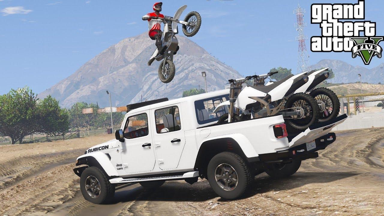 Gta 5 Real Life Mod 165 2020 Jeep Gladiator Hauling Dirt Bikes To
