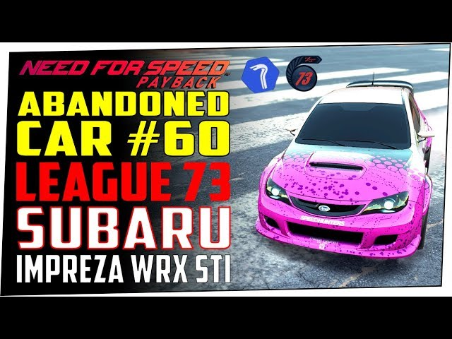 Need For Sd Payback Abandoned Car 60 Location Guide Udo Roth S Subaru Impreza Wrx Sti You