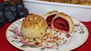 RECEPT ZA KNEDLE SA ŠLJIVAMA - RECEPT ZA GOMBOĆE - how to make plum dumplings