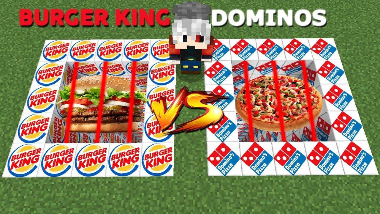 BURGER KING VS DOMINOS RAGDOLL LUCKY BLOCK - Minecraft