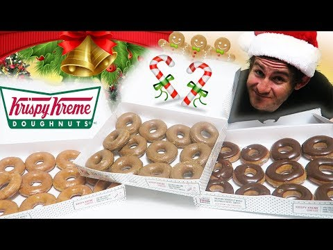 THE KRISPY KREME CHRISTMAS EAT OFF! (7,500+ CALORIES)