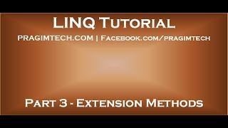 Part 3   Extension Methods in C#