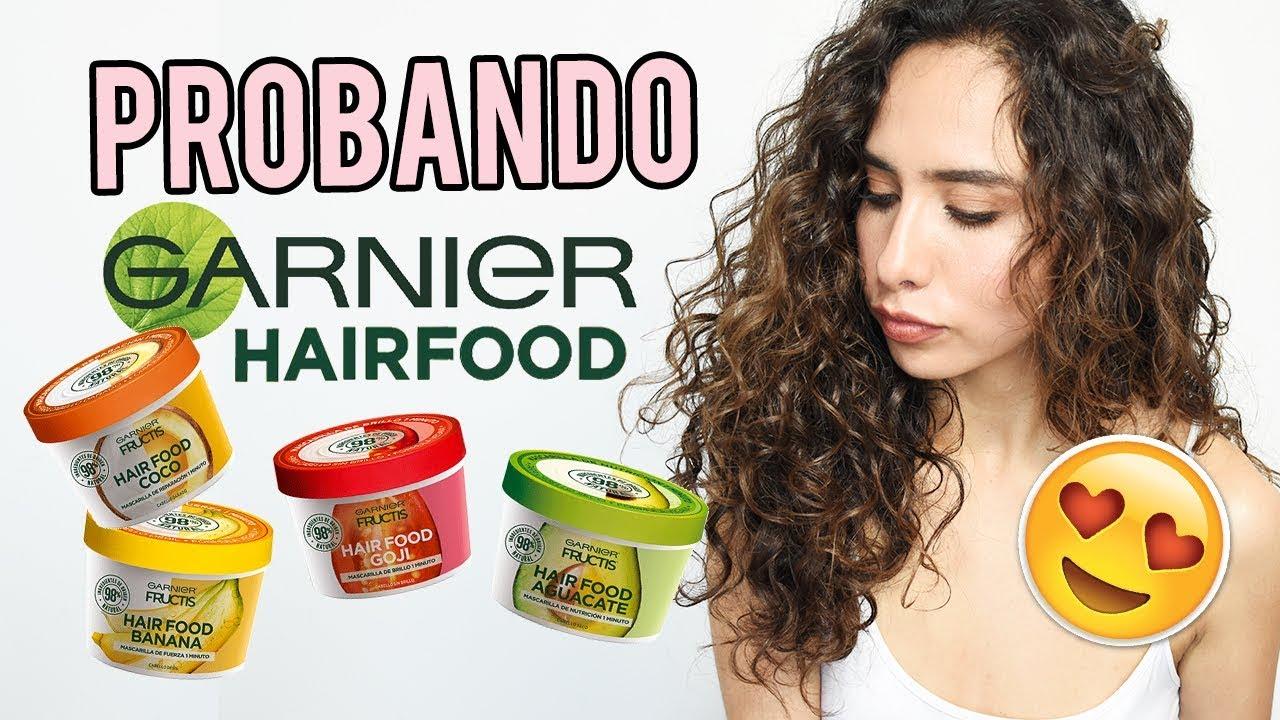 A tientas todos los días localizar  RESEÑA GARNIER HAIR FOOD MASCARILLAS 3 EN 1 🍌 ¡SON ACONDICIONADOR Y CREMA  PARA PEINAR! 🙊 - YouTube