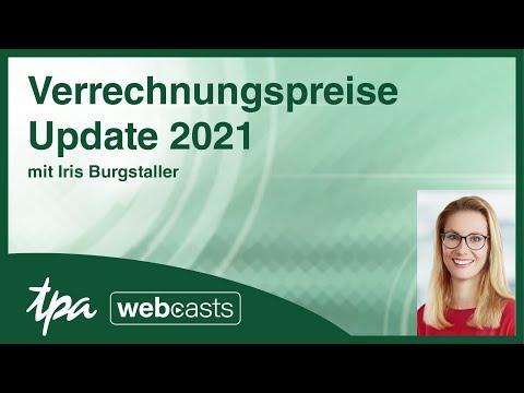 TPA Webcast: Verrechnungspreise Update 2021 von Iris Burgstaller