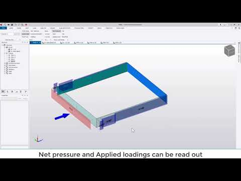 Tekla Structural Designer 2020 - Using the simple wind command