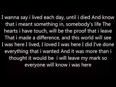 Beyonce - I Was Here Lyrics