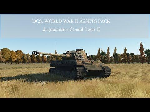 DCS: World War II Assets Pack - Jagdpanther G1 and Tiger II