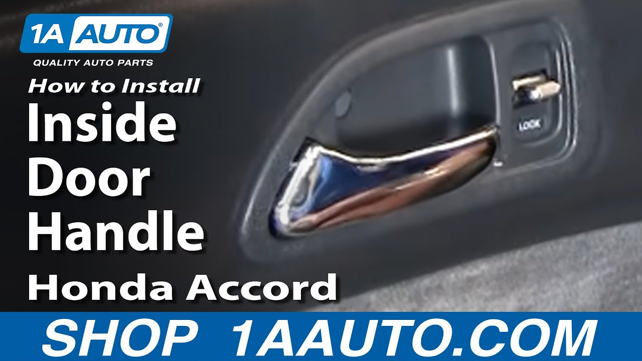 How to install replace inside door handle honda accord 94 - Installing a lock on a bedroom door ...