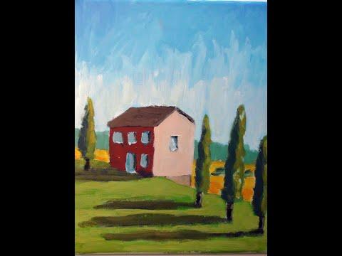 Malen mit Acryl: Toskana Landschaft (Teil 2/2)