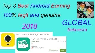 Top 3 Best Android Earning Apps 100% legit and genuine 2018