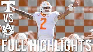 Tennessee Football Highlights vs Auburn 2018  HD
