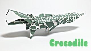 CROCODILE ORIGAMI TUTORIAL | ANIMALS ORIGAMI