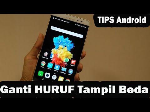 Cara Mengganti HURUF/FONT di Android TANPA ROOT/Tanpa Aplikasi Tambahan