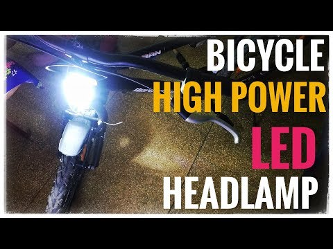 How To Make LED Headlight for Bicycle 100 Watt