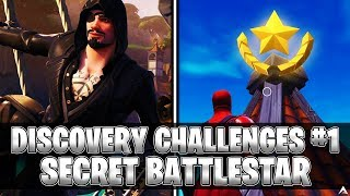 SECRET BATTLESTAR! Week 1 Discovery Challenges (Fortnite Season 8)