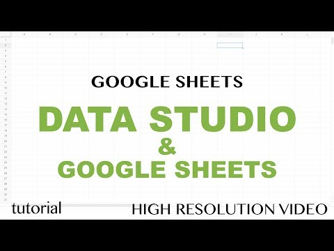Data Studio & Google Sheets Reports Tutorial - Date Series, Line Chart, Bar-Column Chart - Part 2
