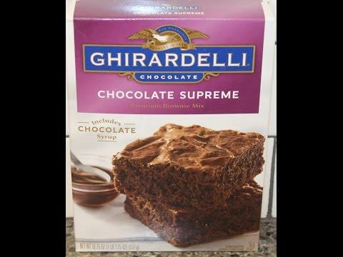 Making Ghirardelli Chocolate Supreme Brownies – Preparation & Review