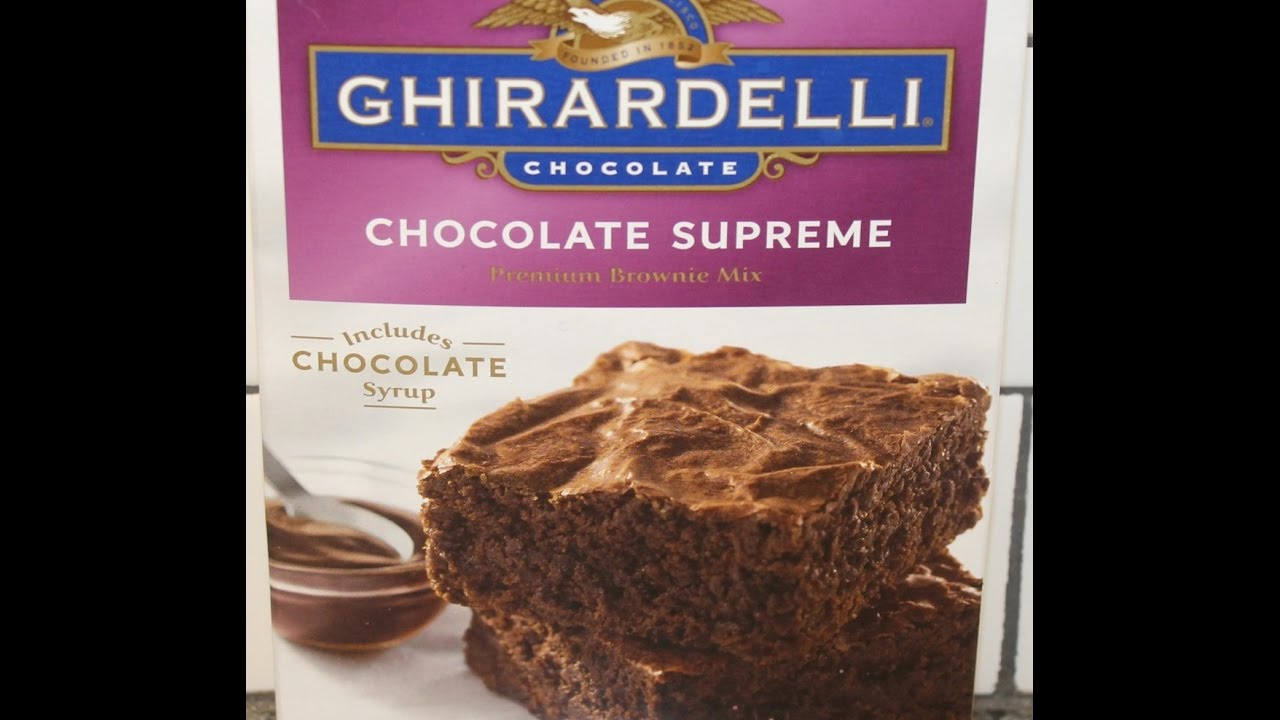 Making Ghirardelli Chocolate Supreme Brownies Preparation Review