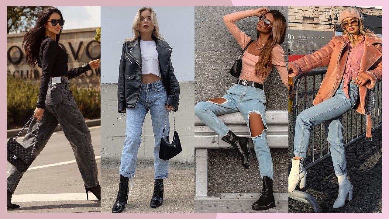 Outfits Con Jeans Y Botines 2020 2021 Moda Otono Invierno Mujer Juvenil Looks Botines Jeans Youtube